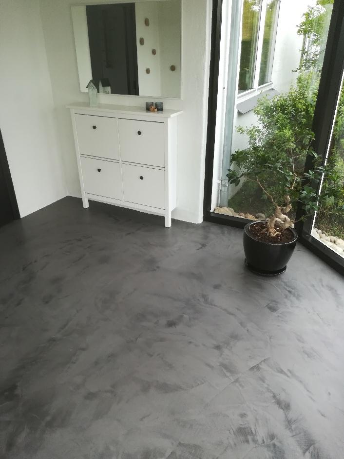 microcement floor - Scandinavian style