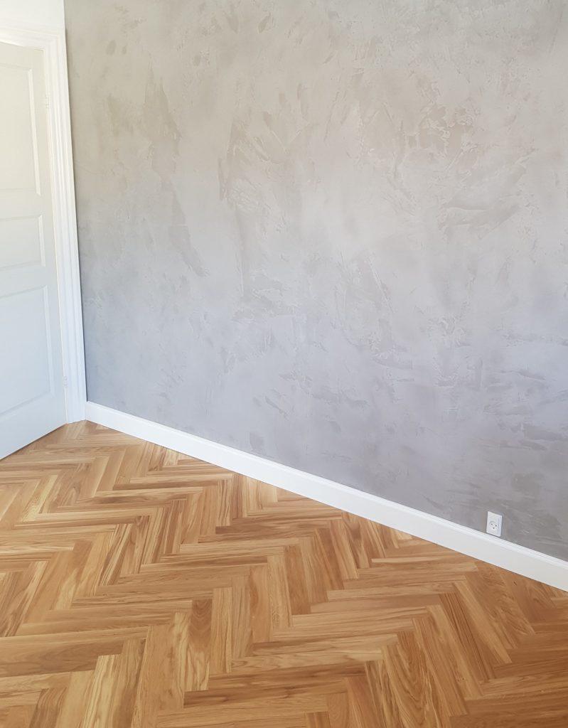microcement wall - Scandinavian style